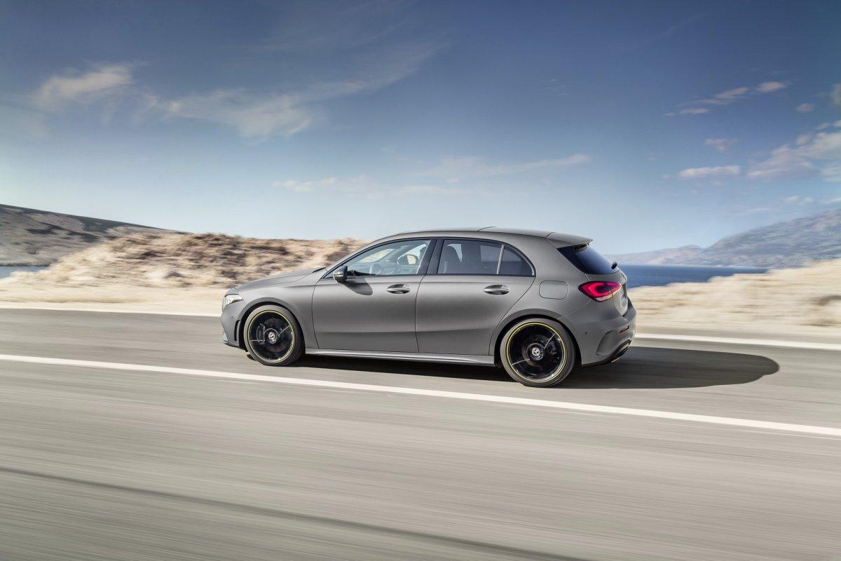 2018 Mercedes Benz A Class Hatch Grey Motion Side