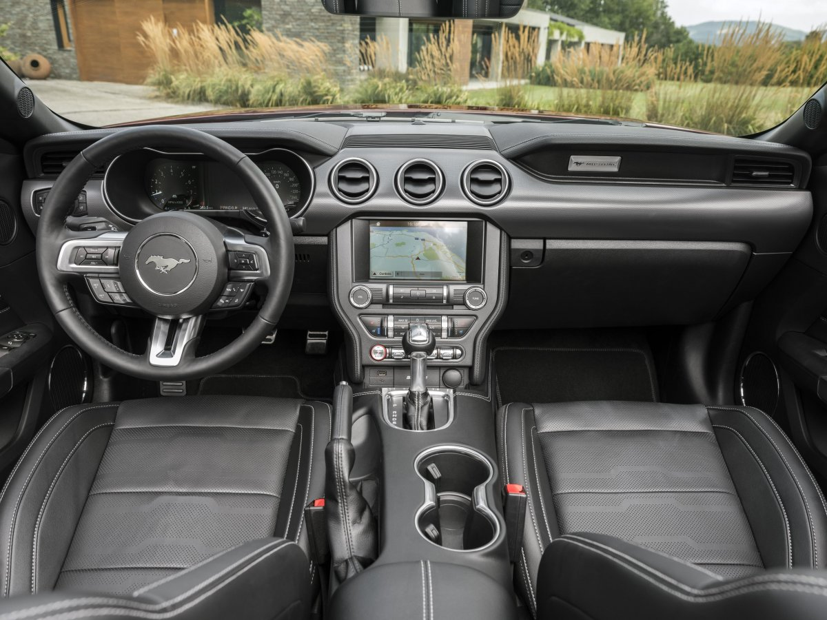 All Mustangs Feature An Instrument Panel With An Updated Mustang Badge While Theres A New Key Fob Design