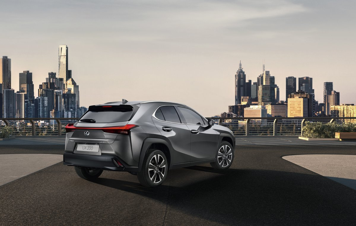 2019 lexus ux rear quarter 1. Black Bedroom Furniture Sets. Home Design Ideas