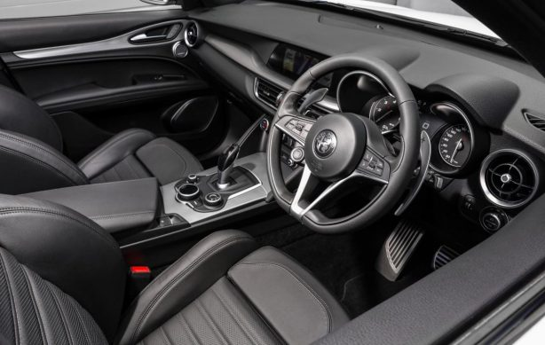 alfa romeo stelvio interior. Black Bedroom Furniture Sets. Home Design Ideas