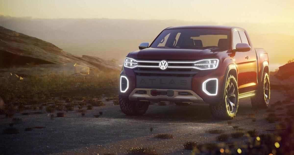 Volkswagen unveils Atlas Tanoak concept - next Amarok ...