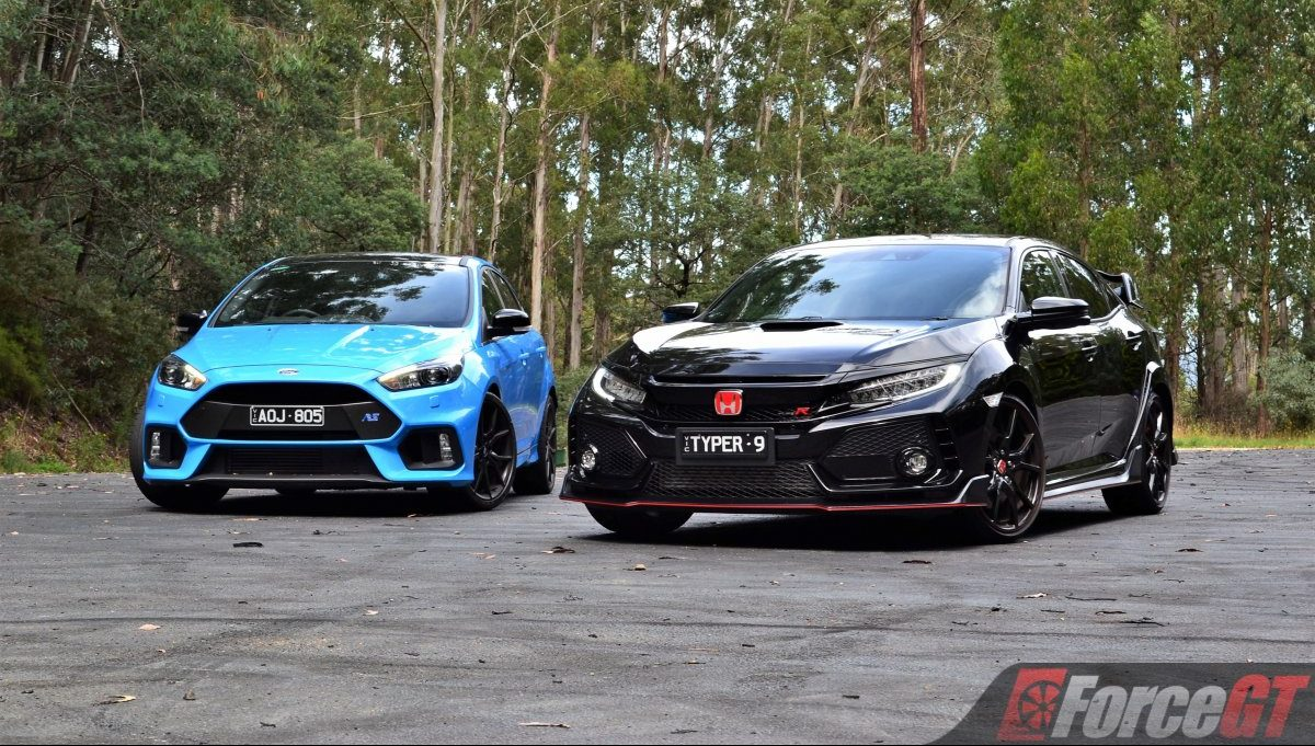 honda civic type r vs ford focus rs 7. Black Bedroom Furniture Sets. Home Design Ideas