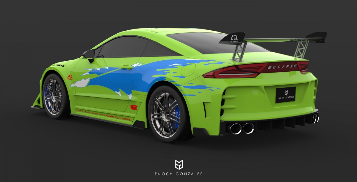 2020 mitsubishi eclipse coupe fast and furious imagined - forcegt