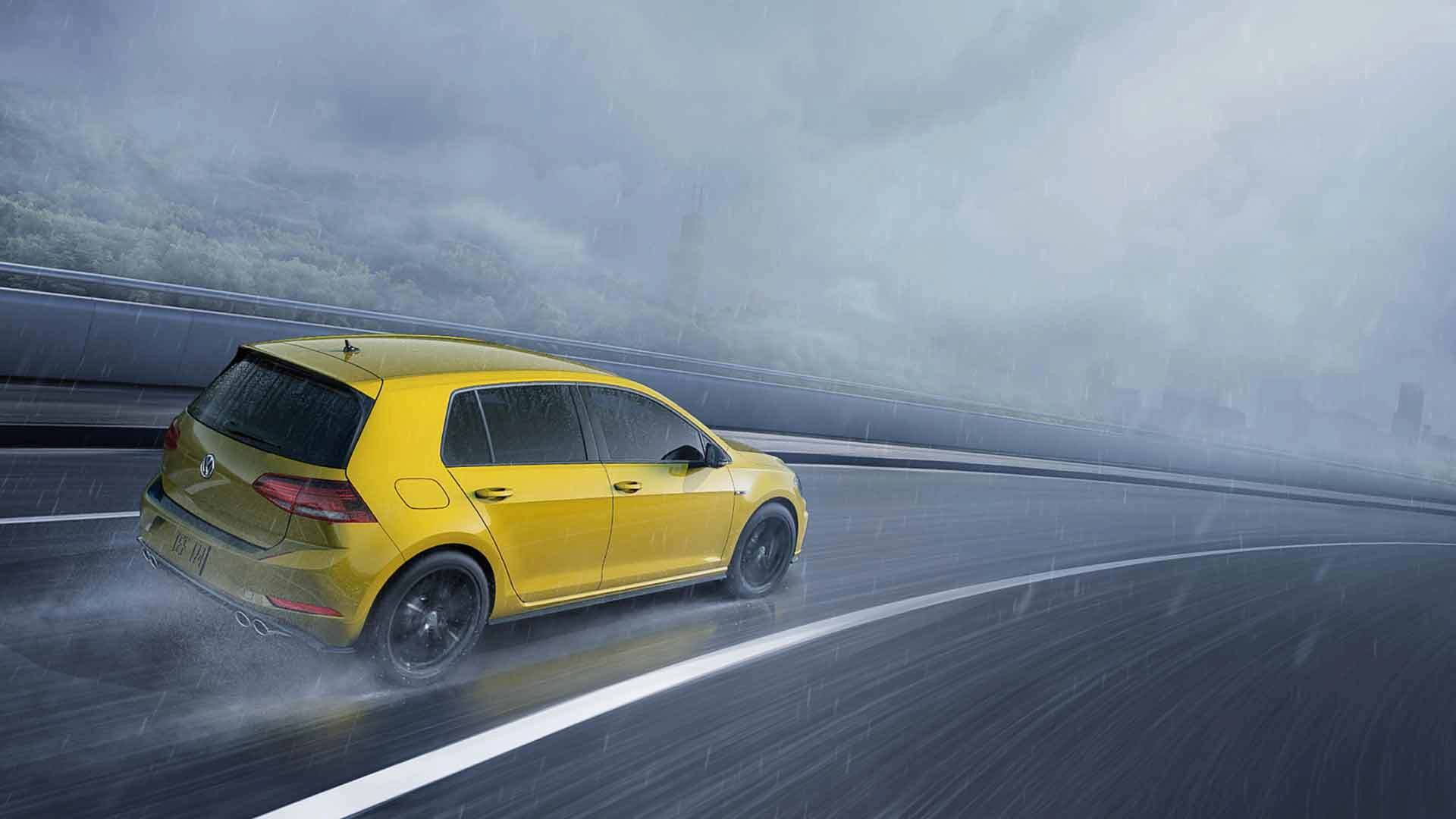Volkswagen Golf R Ginster Yellow Forcegt Com