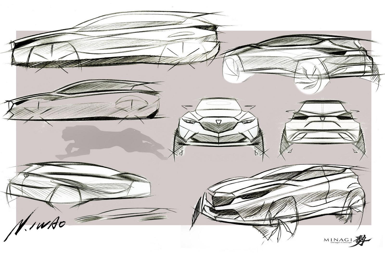 Mazda Minagi Study Sketch 1 Forcegt Com