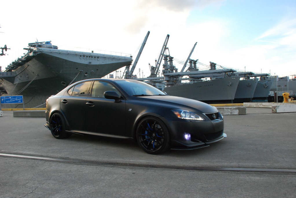 Tuned: Matte Black Wide-Body Lexus IS350