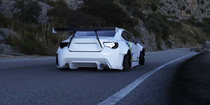 Toyota Tuning: Trust/Greddy Widebody Toyota GT86 rendering