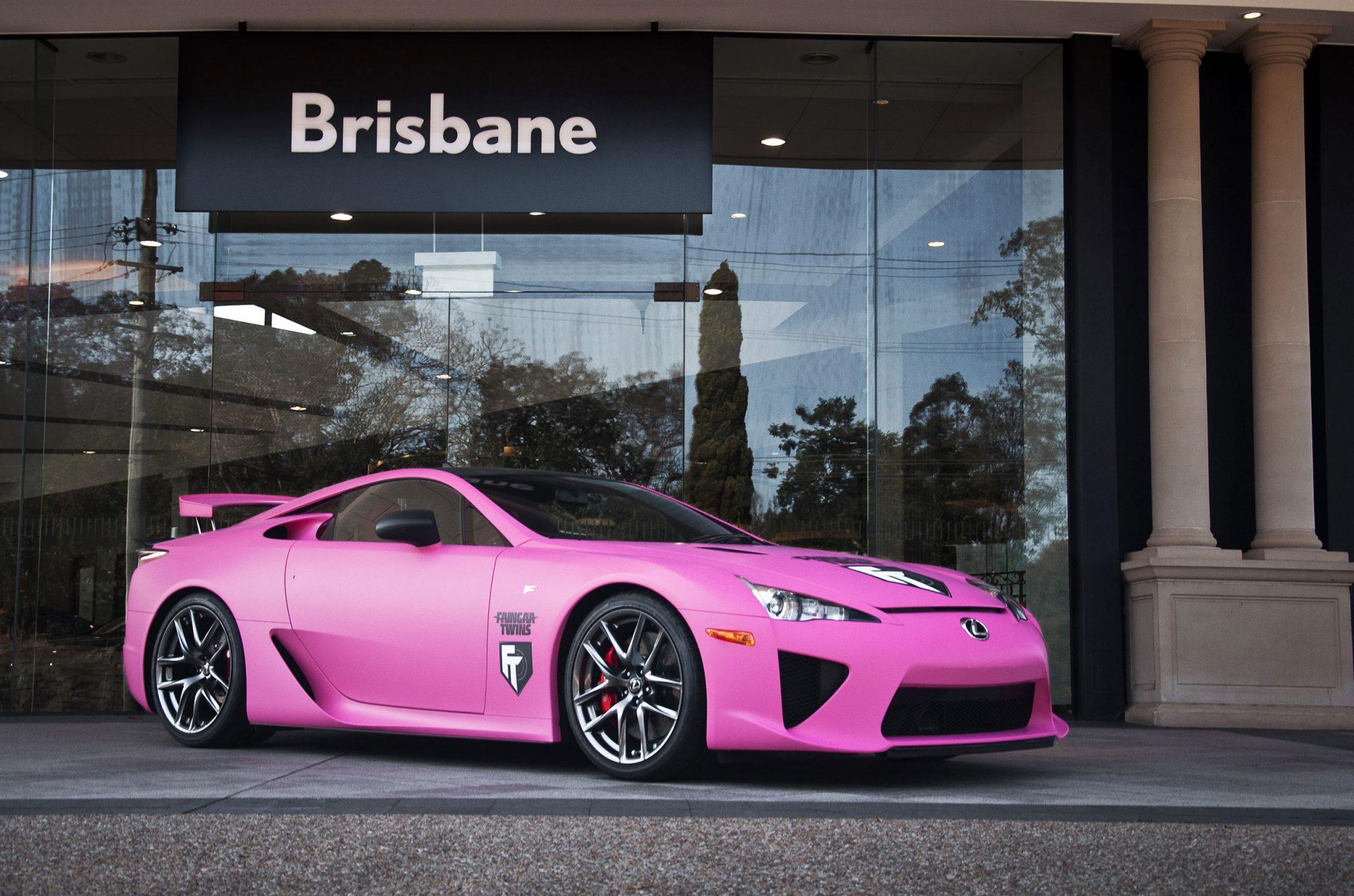 World S First Matte Pink Lexus Lfa Forcegt Com