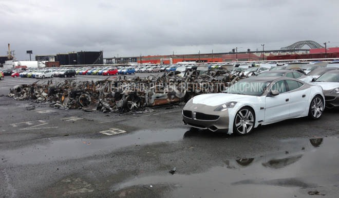 1 6m Worth Of Fisker Karma Damaged By Hurricane Sandy