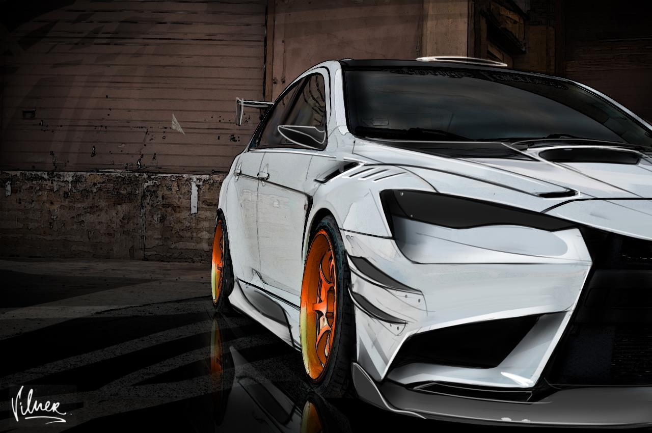 Mitsubishi Cars - News: Vilner radically modifies EVO X