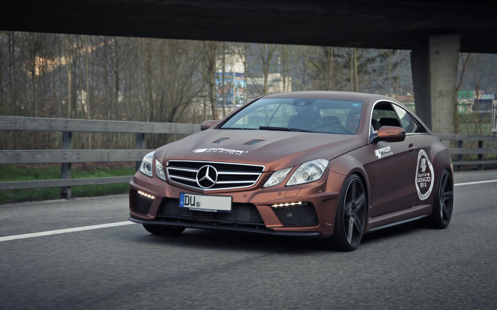 Mercedes Tuning: Prior Design E-Class Coupe widebody kit