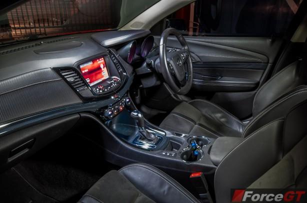 2013 Holden VF Commodore SV6 Ute interior dashboard passenger side