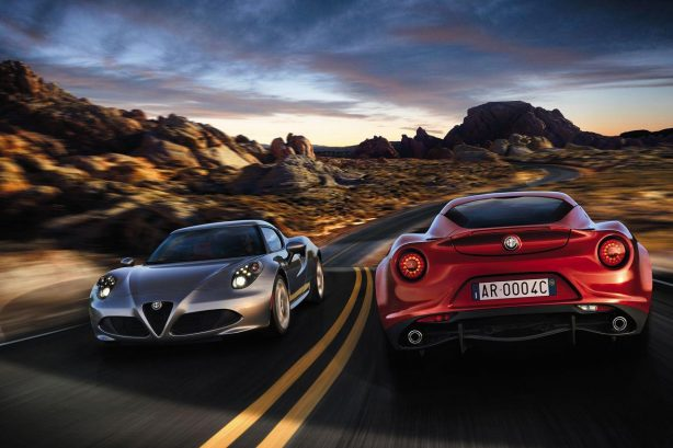 2014 Alfa Romeo 4C silver and red