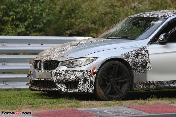 2014-BMW-M3-Sedan-crash-nurburgring-testing-front-side-1