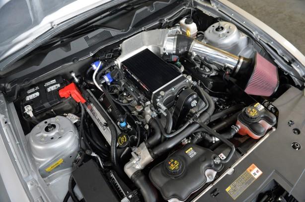 2014 Saleen 351 Mustang engine