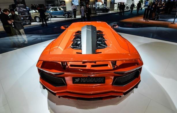 Hamann Lamborghini Aventador rear engine cover