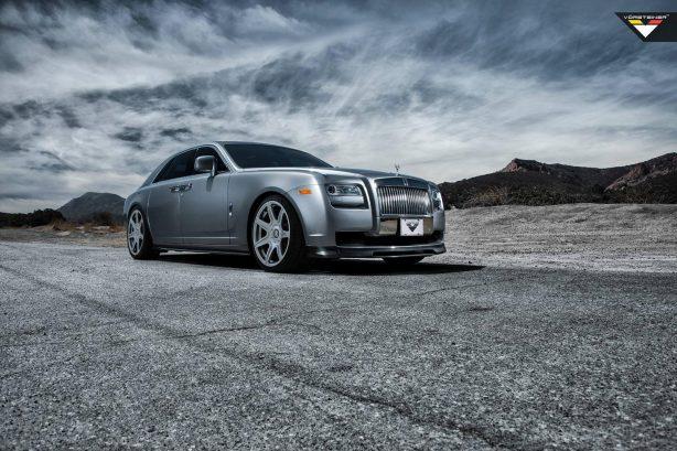 Vorsteiner customised Roll Royce Ghost front quarter-1