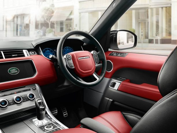 2014 Range Rover Sport red interior