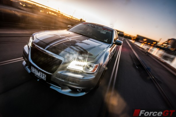 Chrysler 300 Review-2013 SRT8 Core rolling shot