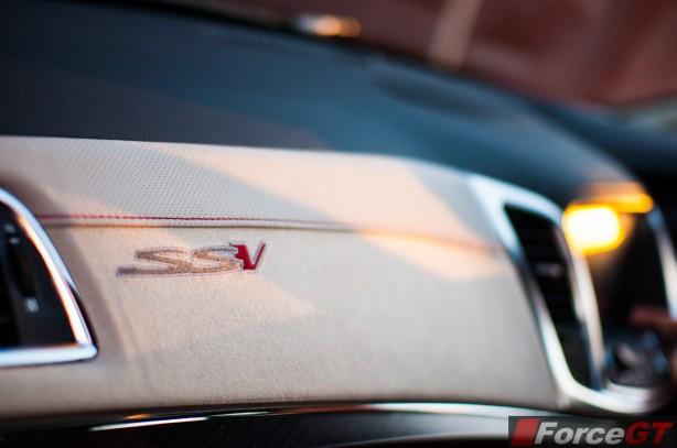 Holden Commodore Review-2013 SSV Redline interior passenger side