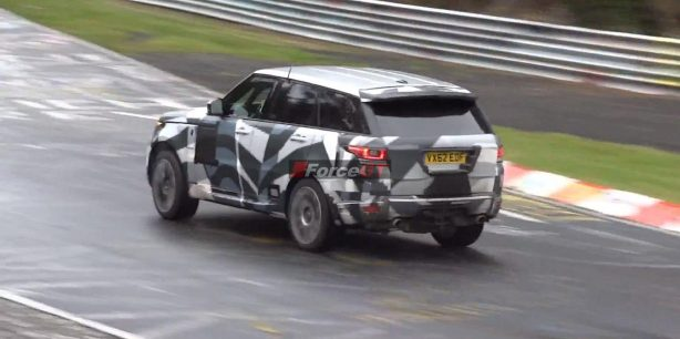 Range Rover Sport RS prototype rear quarter