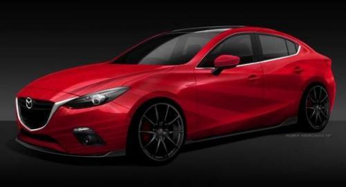 Red Mazda3 concept for 2013 SEMA
