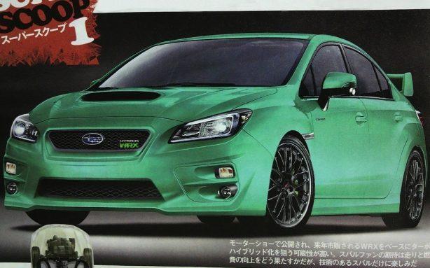 Subaru WRX Hybrid render