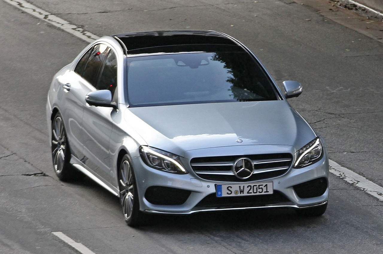 Mercedes Cars News 2014 C Class Spotted Undisguised