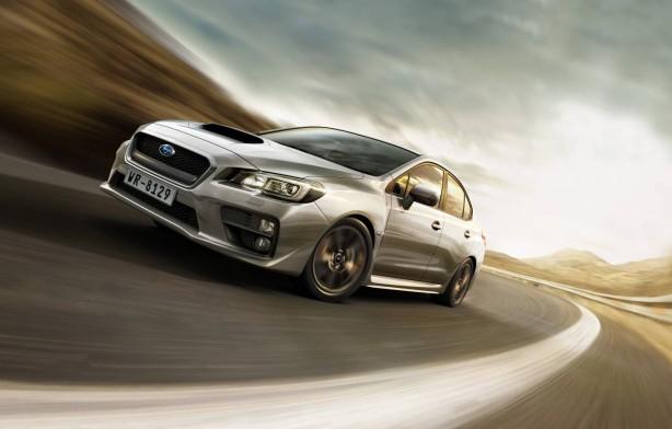 2014 Subaru WRX front quarter rolling