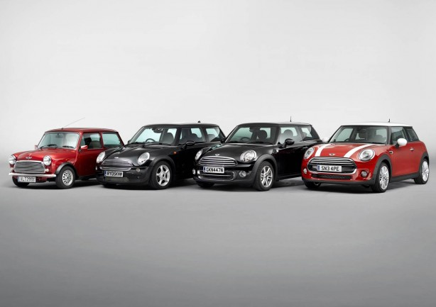 Four generations of MINI