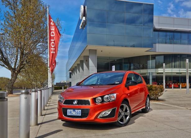 Holden Barina RS Orange Rock front quarter
