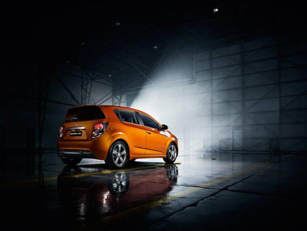 Holden Barina RS Orange Rock rear quarter