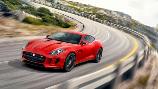 Jaguar F-Type Coupe red