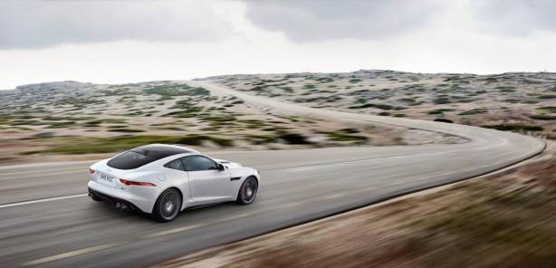 Jaguar F-Type R Coupe rear quarter rolling