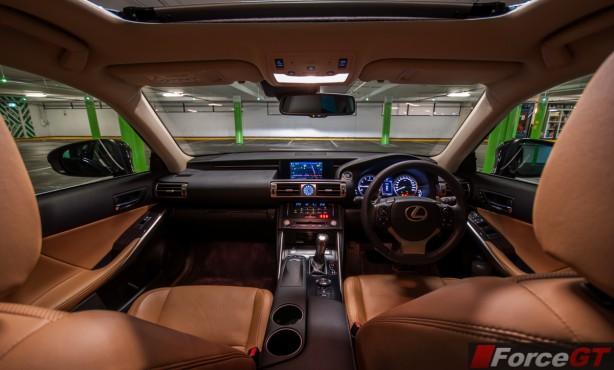 Lexus IS Review-2013 Lexus IS Sport Luxury interior dashboard