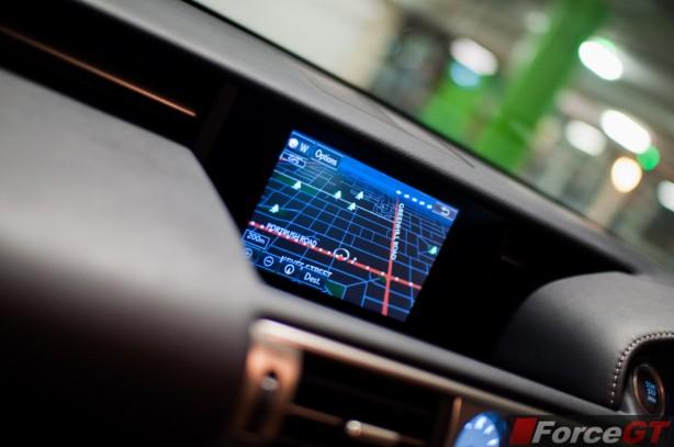 Lexus IS Review-2013 Lexus IS Sport Luxury interior infotainment screen