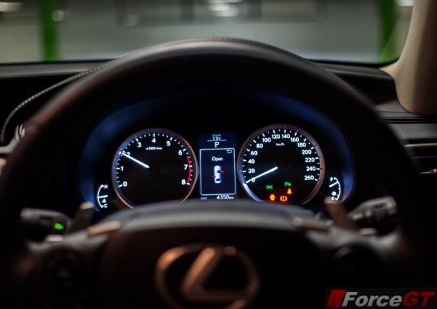 Lexus IS Review-2013 Lexus IS Sport Luxury interior instruments