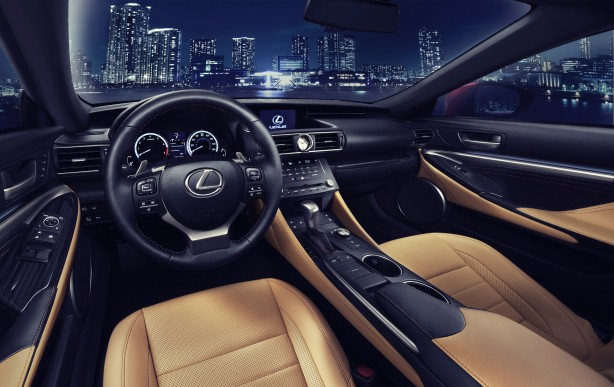 Lexus RC Coupe interior