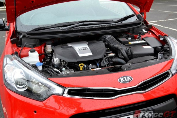 2013 Kia Cerato Review - Koup Turbo engine