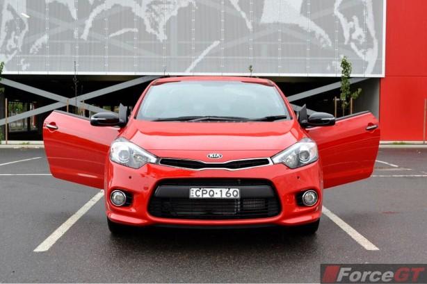 2013 Kia Cerato Review - Koup Turbo front door opened