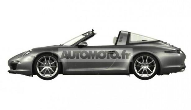 2014 Porsche 911 Targa patent image side roof open