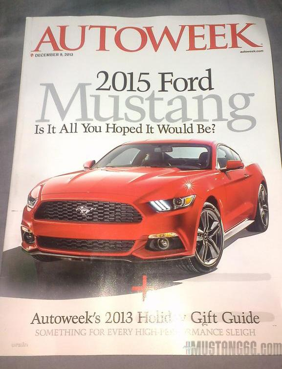 2015 Ford Mustang Autoweek leaked image front