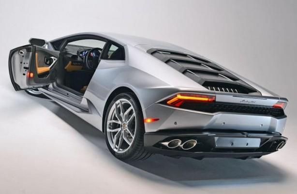 2015 Lamborghini Huracan grey rear quarter-1