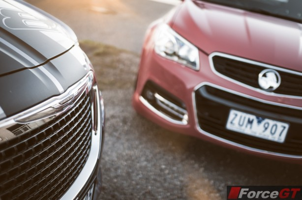 Holden v Chrysler Review - SSV Redline v 300 SRT8-2