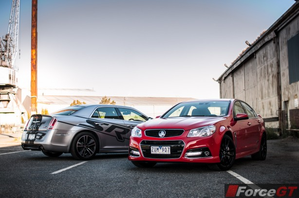 Holden v Chrysler Review - SSV Redline v 300 SRT8