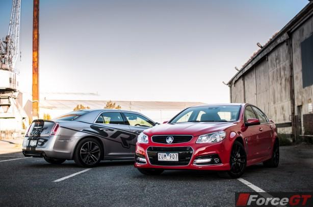 Holden v Chrysler Review - SSV Redline v 300 SRT8