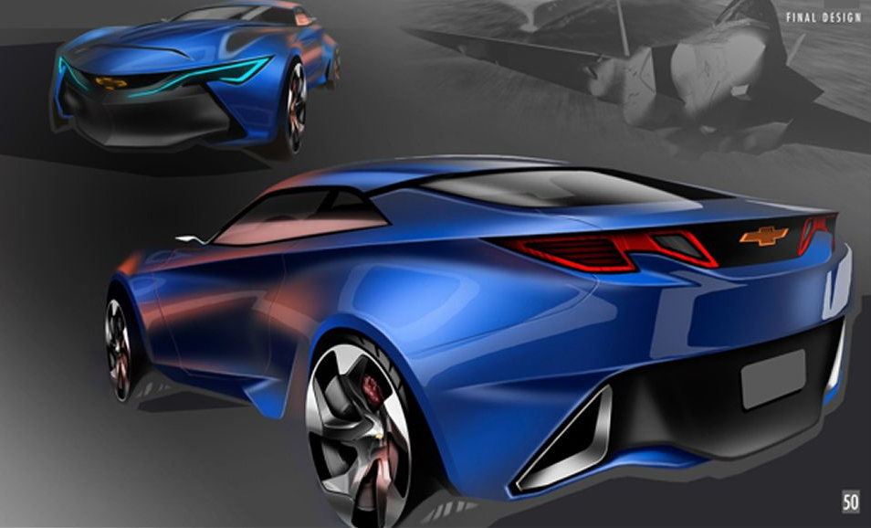 Next-generation Chevrolet Camaro sketch rear - ForceGT.com