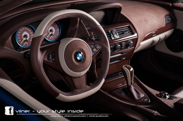 Vilner tuned BMW 6 Series Bullshark interior dashboard