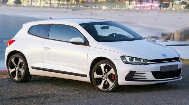 Volkswagen Scirocco facelift render