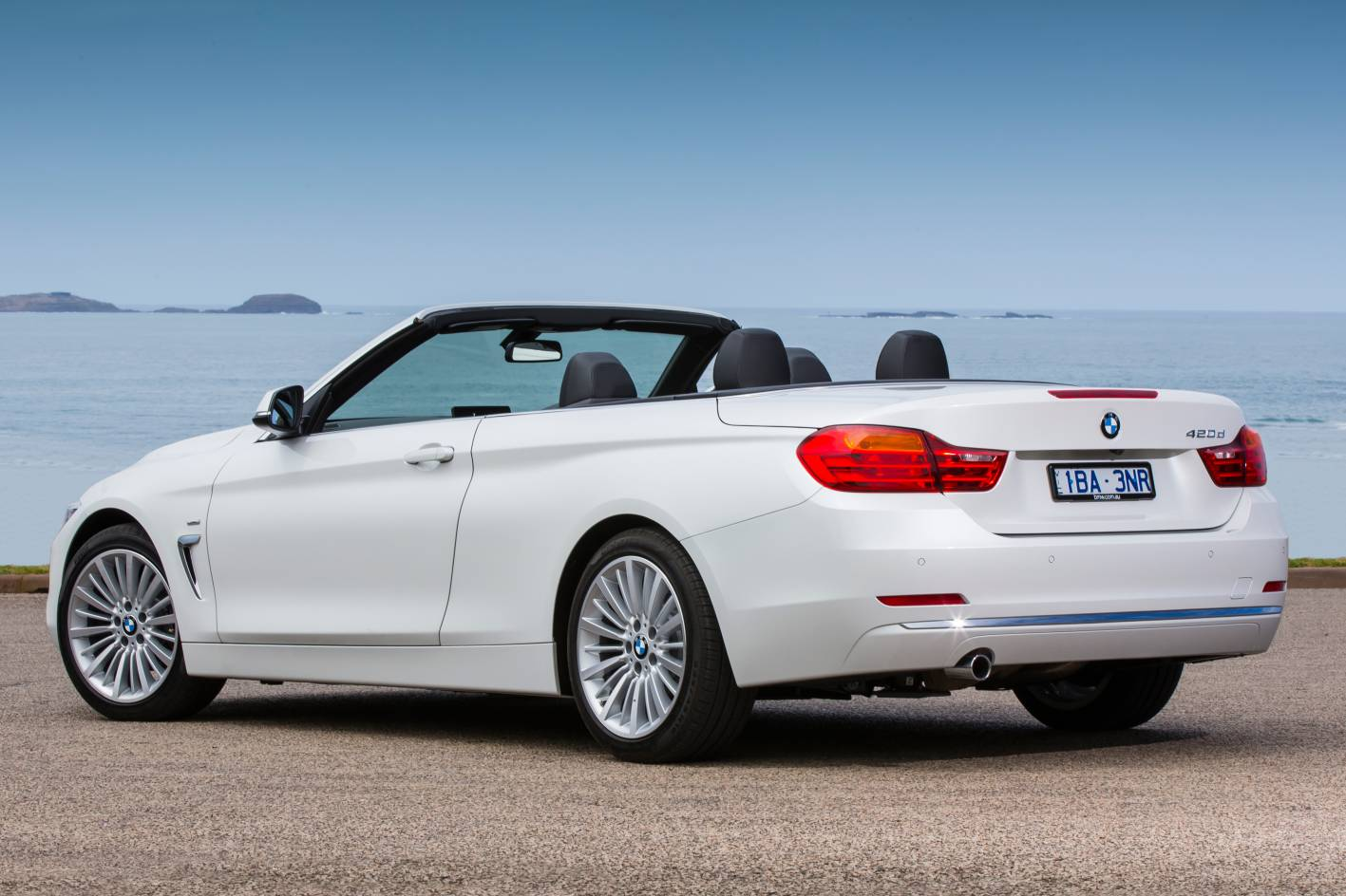 BMW Convertible bmw 4 series convertible white 2014-BMW-4-Series-Convertible-420d-rear-quarter - ForceGT.com
